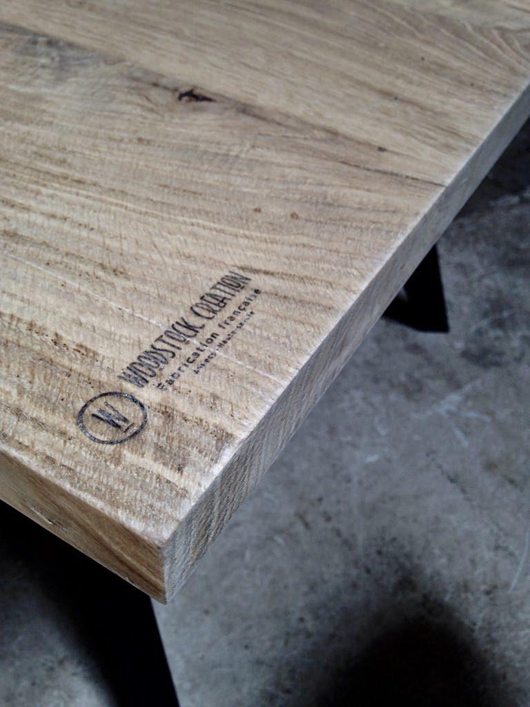 Table sur mesure en bois