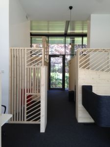 espace en bois bureau