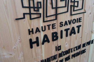 Signalétique bois Haute-Savoie Habitat